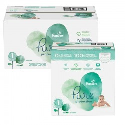 Pampers - Giga pack 245 Couches Pure Protection taille 1 sur Les Couches