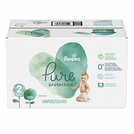 Pampers - Pack 54 Couches Pure Protection taille 2 sur Les Couches