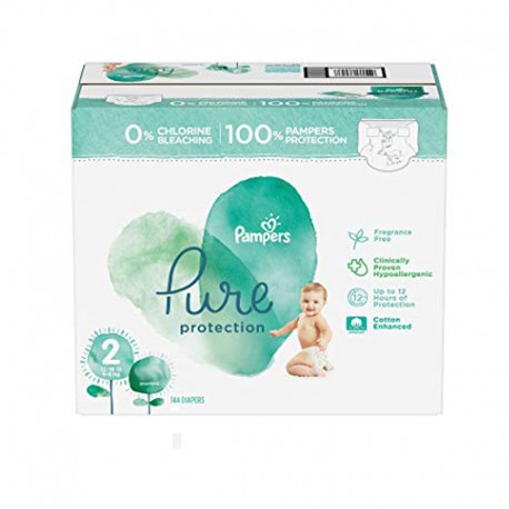 Pampers - Pack 81 Couches Pure Protection taille 2 sur Les Couches