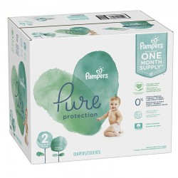 Pampers - Mega pack 108 Couches Pure Protection taille 2 sur Les Couches