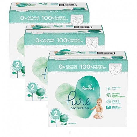 Pampers - Mega pack 135 Couches Pure Protection taille 2 sur Les Couches