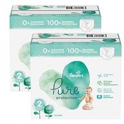 Pampers - Mega pack 162 Couches Pure Protection taille 2 sur Les Couches