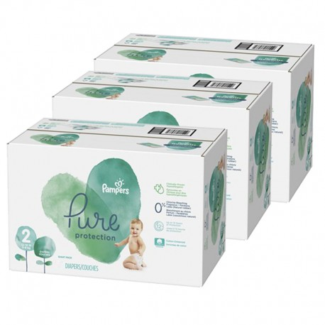 Pampers - Giga pack 270 Couches Pure Protection taille 2 sur Les Couches