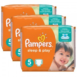 Pampers - Maxi mega pack 406 Couches Sleep & Play taille 6