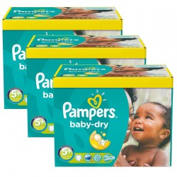 Pampers - Giga pack 224 Couches Baby Dry taille 5+ sur Les Couches