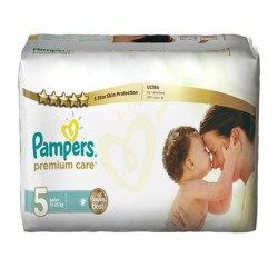 Pampers - Pack 30 Couches Premium Care taille 5 sur Les Couches