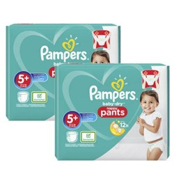 Pampers - 272 Couches Baby Dry Pants taille 5+ sur Les Couches