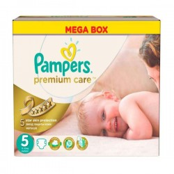 Pampers - Giga pack 210 Couches Premium Care taille 5 sur Les Couches