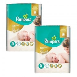 Pampers - Maxi giga pack 300 Couches Premium Care taille 5 sur Les Couches