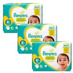 Pampers - Giga pack 210 Couches New Baby Premium Protection taille 4+