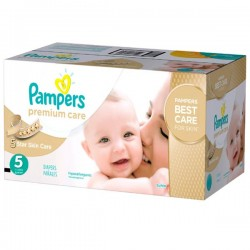 Pampers - Maxi giga pack 390 Couches Premium Care taille 5 sur Les Couches