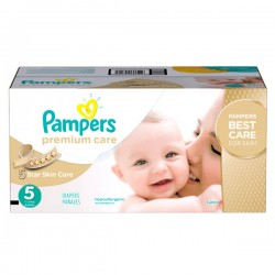 Pampers - Maxi mega pack 420 Couches Premium Care taille 5 sur Les Couches
