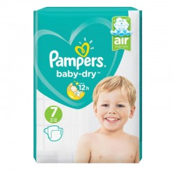 Pampers - Pack 21 Couches Baby Dry taille 7 sur Les Couches