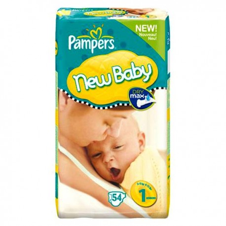 Pampers - Pack 56 Couches New Baby Premium Protection taille 1 sur Les Couches
