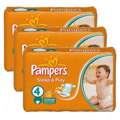 Pampers - Giga pack 200 Couches Sleep & Play taille 4 sur Les Couches