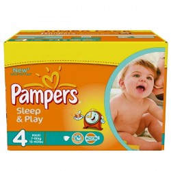 Pampers - Maxi mega pack 450 Couches Sleep & Play taille 4 sur Les Couches
