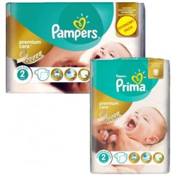 Pampers - Mega pack 110 Couches New Baby Premium Care taille 2 sur Les Couches