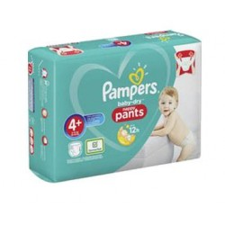 Pampers - Pack 35 Couches Baby Dry Pants taille 4+ sur Les Couches