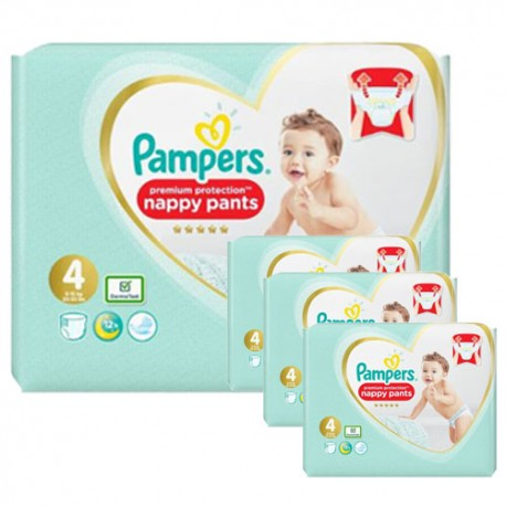 Pack 114 Couches Pampers Premium Protection Pants taille 4 sur Les Couches