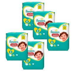 Pampers - Pack 74 Couches Premium Protection Pants taille 6 sur Les Couches