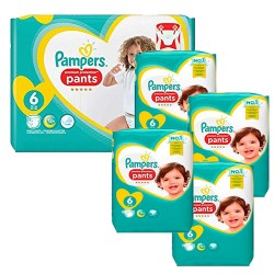 Pampers - Mega pack 185 Couches Premium Protection Pants taille 6 sur Les Couches