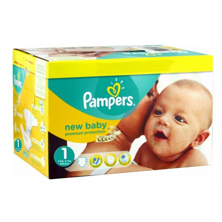Pampers - Giga pack 224 Couches New Baby Premium Protection taille 1 sur Les Couches
