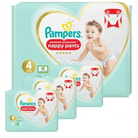 Pampers - Giga pack 247 Couches Premium Protection Pants taille 4 sur Les Couches