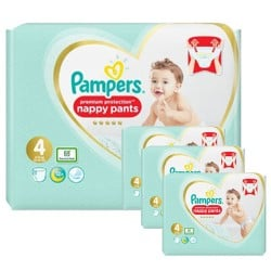 Pampers - Maxi giga pack 342 Couches Premium Protection Pants taille 4 sur Les Couches
