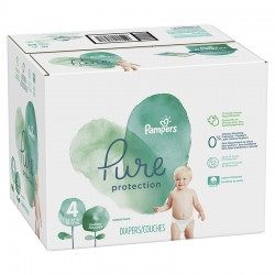 Pampers - Mega pack 114 Couches Pure Protection taille 4 sur Les Couches
