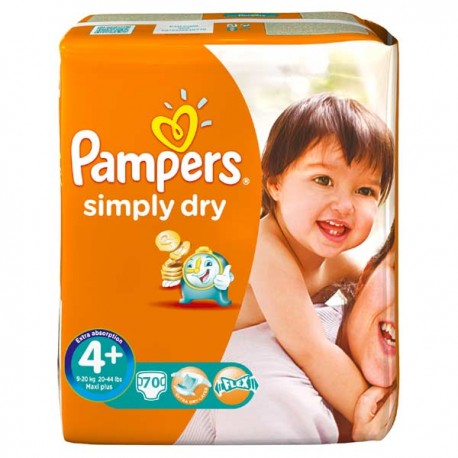 70 couches pampers simply dry taille 4 en solde sur les - Couches pampers taille 4 comparateur prix ...