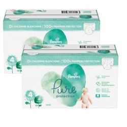Pampers - Mega pack 133 Couches Pure Protection taille 4 sur Les Couches