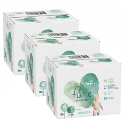 Pampers - Mega pack 152 Couches Pure Protection taille 4 sur Les Couches