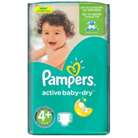 Pampers - 40 Couches Active Baby Dry taille 4+ sur Les Couches