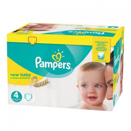 Pampers - Giga pack 288 Couches New Baby Premium Protection taille 4 sur Les Couches