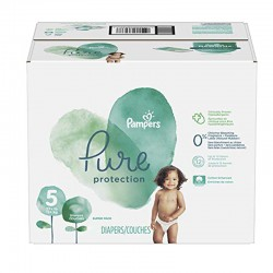 Pampers - Pack 51 Couches Pure Protection taille 5 sur Les Couches