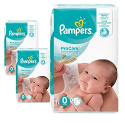 Pampers - Mega pack 114 Couches ProCare Premium protection taille 0 sur Les Couches
