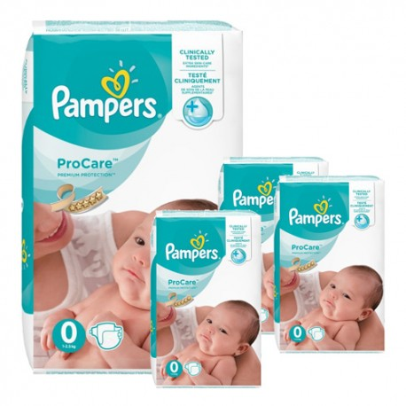 Pampers - Mega pack 152 Couches ProCare Premium protection taille 0 sur Les Couches