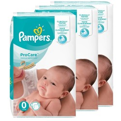 Pampers - Mega pack 190 Couches ProCare Premium protection taille 0