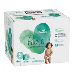 Pampers - Giga pack 255 Couches Pure Protection taille 5 sur Les Couches