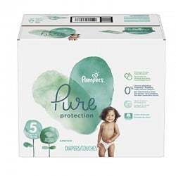 Pampers - Giga pack 289 Couches Pure Protection taille 5