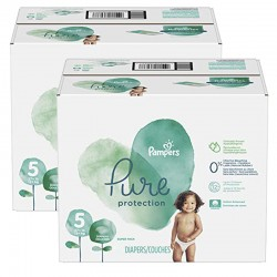 Pampers - Maxi giga pack 323 Couches Pure Protection taille 5 sur Les Couches