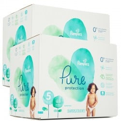 Pampers - Maxi giga pack 374 Couches Pure Protection taille 5