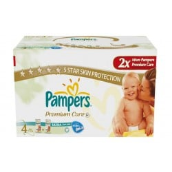 Pampers - Giga pack 220 Couches New Baby Premium Care taille 4 sur Les Couches