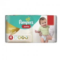 Pack 66 Couches Pampers Premium Care Pants taille 4 sur Les Couches