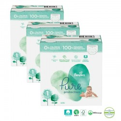Pampers - Giga pack 200 Couches Pure Protection taille 1 sur Les Couches