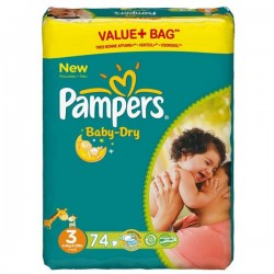 Pampers - Pack 90 Couches Baby Dry taille 3