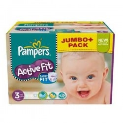 Pampers - 544 Couches Active Fit taille 3 sur Les Couches