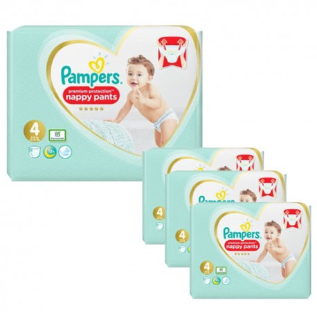 Pampers - Pack jumeaux 608 Couches Premium Protection Pants taille 4 sur Les Couches
