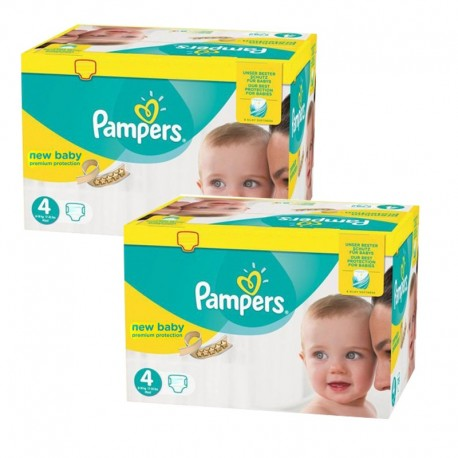 Pampers - Pack jumeaux 768 Couches New Baby Premium Protection taille 4 sur Les Couches