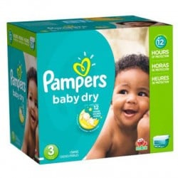 Pampers - Giga pack 266 Couches Baby Dry taille 3 sur Les Couches